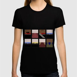 DS9  Characters - Minimalist Star Trek DS9 Deep Space Nine - Defiant - startrek - Trektangles T-shirt