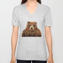 Crystal Bear Unisex V-Neck