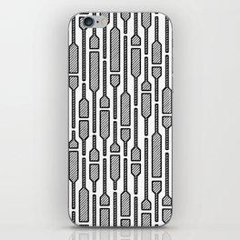 Spells - Hand Drawn Geometric Pattern (Black) iPhone Skin
