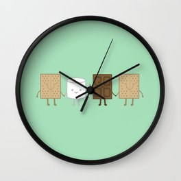Life is S'more Fun Together (Mint) Wall Clock
