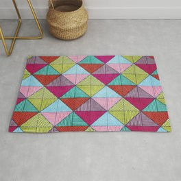 Colorful Seamless Rectangular Geometric Pattern V Rug