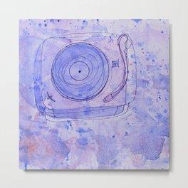 Faded Phonograph Metal Print