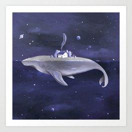 Galaxy Whale Art Print
