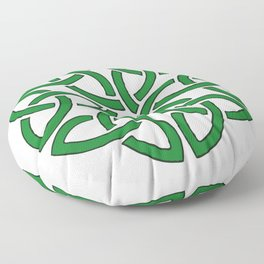 Shamrock Celtic Art Knotwork Design Floor Pillow