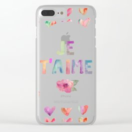 Je T'aime Clear iPhone Case
