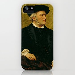 Richard Wagner (1813 – 1883) by Giuseppe Tivoli (b.1845) iPhone Case