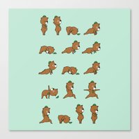 Yoga Bear Canvas Print