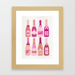 French Champagne Collection – Pink Framed Art Print
