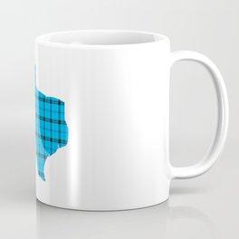 Texas State Shape: Blue Plaid Coffee Mug