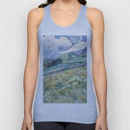 Vincent Van Gogh - Landscape from Saint-Remy 1889 Unisex Tank Top