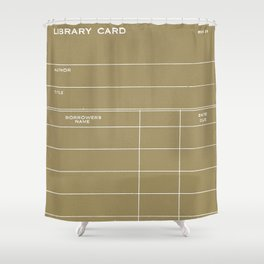 Library Card BSS 28 Negative Brown Shower Curtain
