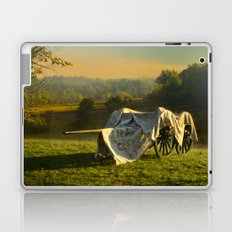 Civil War canon and limber in the early morning mist. Laptop & iPad Skin