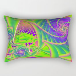 Dingle Berries Psychedelic Fractal Rectangular Pillow
