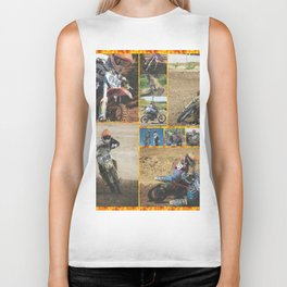 Motocross Collage Biker Tank