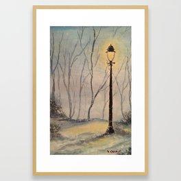 Winter Fantasy Original Watercolor Painting Framed Art Print