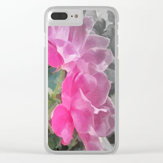 Iced Blossoms Clear iPhone Case