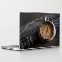 pocket Laptop & iPad Skins featuring Pocket Watch by Colleen G. Drew