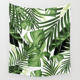 Tropical Jungle Leaves Pattern #12 #tropical #decor #art #society6 Wall Tapestry