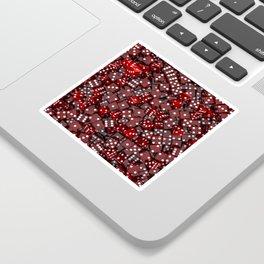 Red dice Sticker