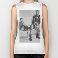 it crowd Biker Tanks featuring Levis Crowd by vooduude
