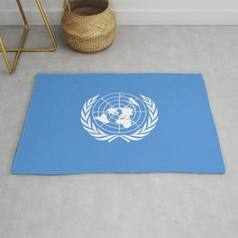 Flag on United nations -Un,World,peace,Unesco,Unicef,human rights,sky,blue,pacific,people,state,onu Rug