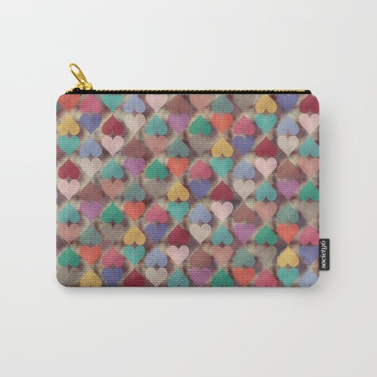 Colorful Love Pattern XI Carry-All Pouch