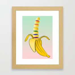 Gay Pride Banana Framed Art Print