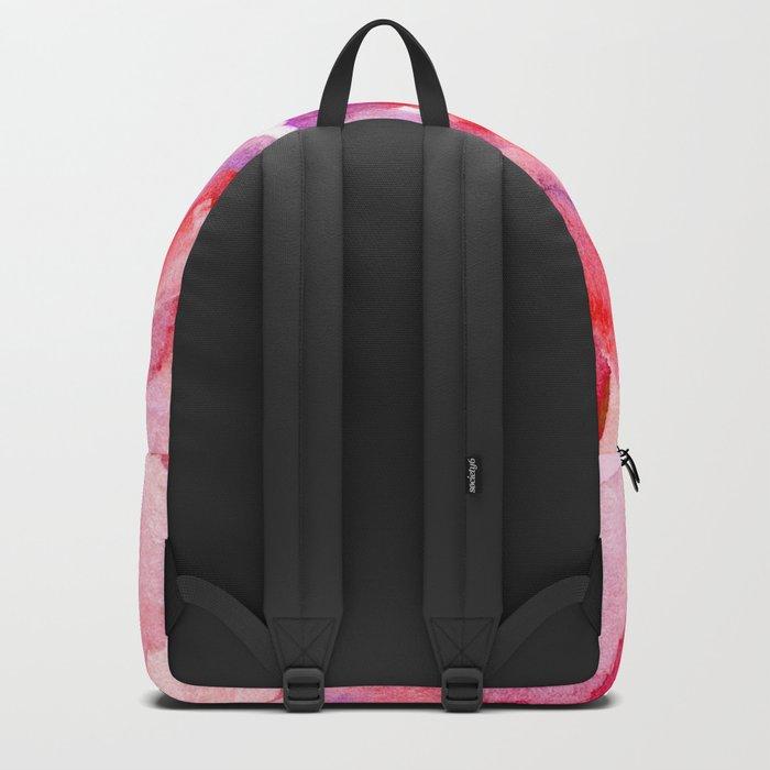 red pink flower Backpack