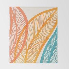 Tropical Flora - Retro Palette Throw Blanket