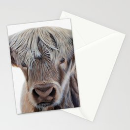 Highland Cow Acrylic Painting Stationery Cards