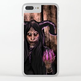 Forest Witch Clear iPhone Case