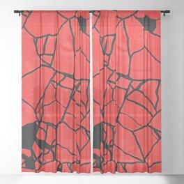 FireCrackle Sheer Curtain