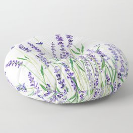 lavender watercolor horizontal Floor Pillow