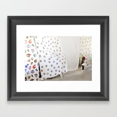 Peek-a-boo baby Framed Art Print