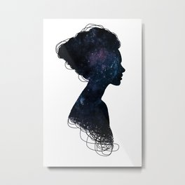 Galaxy Girl Metal Print