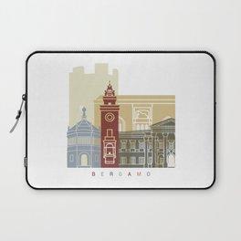 Bergamo skyline poster Laptop Sleeve