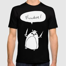 Plunder Penguin X-LARGE Black Mens Fitted Tee