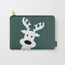 Reindeer on green background Carry-All Pouch