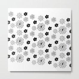 Blossom Doodle Metal Print
