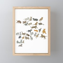 CatsFamilyTree Framed Mini Art Print
