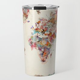 world map watercolor deux Travel Mug