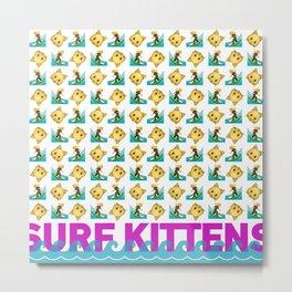 Surf kitten emojis-Summer logo Metal Print