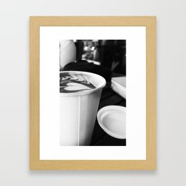 Cups of Coffee Framed Art Print