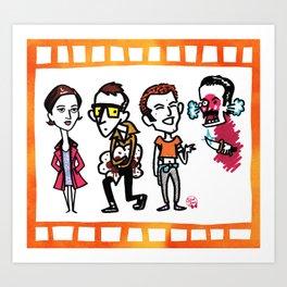 Diane, Spud, Renton, Begbie Art Print