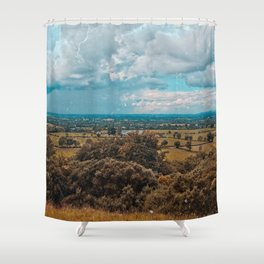Somewhere in the Lake District, England Shower Curtain