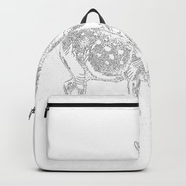 Alice and the Fawn in White Backpack