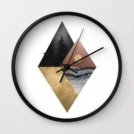 Night and Day Modern Scandinavian Abstract Wall Clock