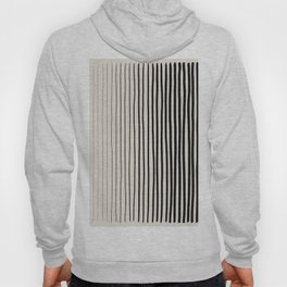 Black Vertical Lines Hoody