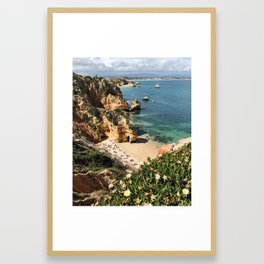 Don't Look Down / Lagos, Portugal Framed Art Print