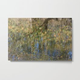 Monet-Like Autumn Reflection Metal Print